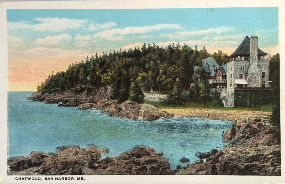 Chatwold, bar Harbor, Maine, antique, vintage, postcard