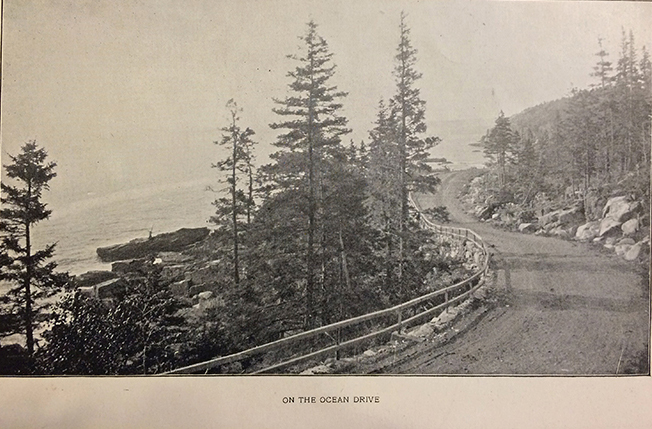 "from ""A Souvenir of Bar Harbor - Mount Desert Maine,"" W.H. Sherman, 1893. Photo courtesy of the Jesup Memorial Library"