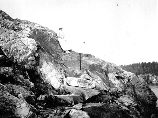 Seal Harbor's Shore Path. Photo courtesy of the Seal Harbor Library. Dunham Collection No.578