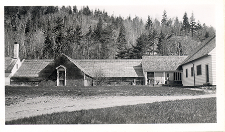The area now occupied by Wildwood Stables was once the Dane farm. Photo courtesy of Acadia National Park Archives