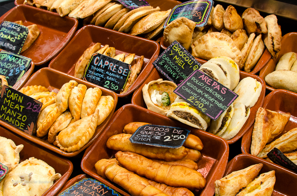 Mercat de Sant Josep de la Boqueria, la Boqueria, Barcelona, Spain, Espana, Catalonia, Catalunya, market, mercado, bakery, pastries, pasties, meat pies